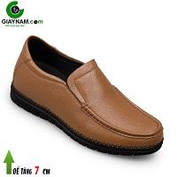 Giày lười nam cao 7cm màu bánh mật thượng hạng; Mã số GCL88826