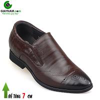 Giày cao màu nâu mũi giày đục lỗ phong cách ITALIA; Mã số GC737012N