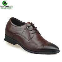 Giày cao nam màu nâu bánh mật mũi đen nhập khẩu 2018; Mã số GC737002N