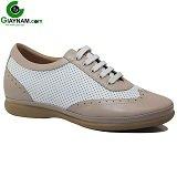 Giày cao nhập ngoại GOG trắng pha nâu mã GCD10K031D