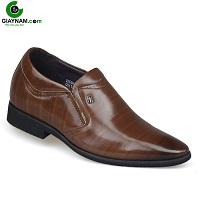 Giày cao nhập khẩu thương thiệu aulunbin màu nâu tao nhã; Mã số GC00655N