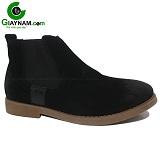Giày cao cổ nam màu đen lộn mã 12GCC100D