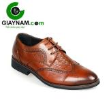 Giày công sở buộc day cao cấp GOG cho nam màu nâu với mã BD71682N