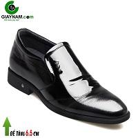 Giày da đế cao 6,5 cm phong cách Hàn Quốc sang trọng màu đen 2018; Mã số GC41841D