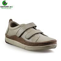 Giày da nam mạnh mẽ năng động màu trắng sữa thu động 2018; Mã số GTT82895T