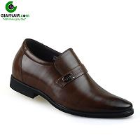 Giày lười công sở thời trang cao 6cm cho người đi làm màu nâu sang trọng; Mã số GL331368N