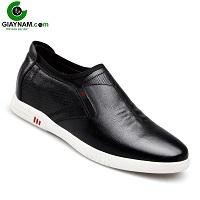 Giày lười màu đen thiết kế châu âu sành điệu 2018; Mã số GL91836D