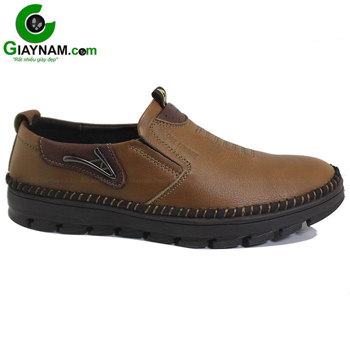 Giày lười da mềm màu vàng mã GL2761V