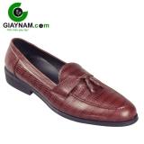 Giày lười đẹp Hàn Quốc nơ chuông màu nâu mã GL6690N