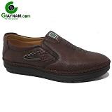 Giày lười nam da mềm màu nâu mã 12GL6830N