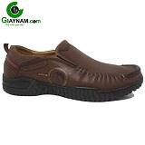 Giày lười thời trang nam màu nâu mã 52GL7555N