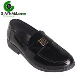 Giày lười thời trang Savato đen bóng, mã GL008DB