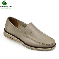 Giày lười thời trang thương hiệu cao cấp màu trắng ngả vàng 2018; Mã số GL987103T