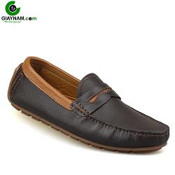Giày mọi nam mùa hè màu nâu đế mềm phong cách quý ông 2018; Mã số GM931N
