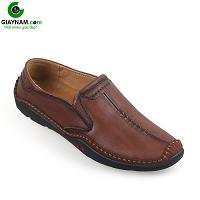 Giày nam lười thiết kế độc đáo màu nâu chocolate 2018; Mã số GL66823N