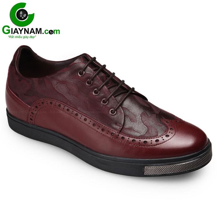 Giày tăng chiều cao thể thao màu đỏ vang mã GCD866072RV